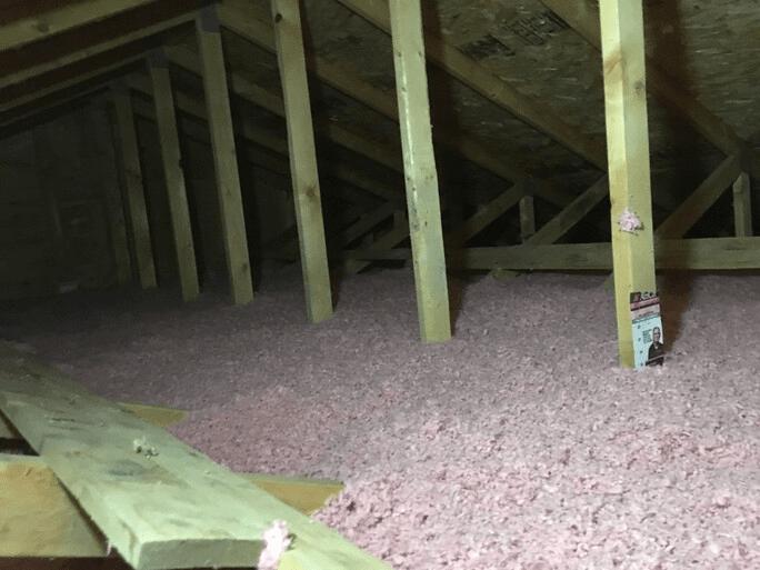 Spray attic insulation